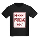 Ferret Parking Kids Dark T-Shirt