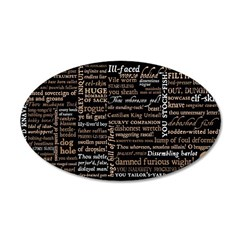 Shakespeare Insults T-shirts & Gifts 35x21 Oval Wall Decal