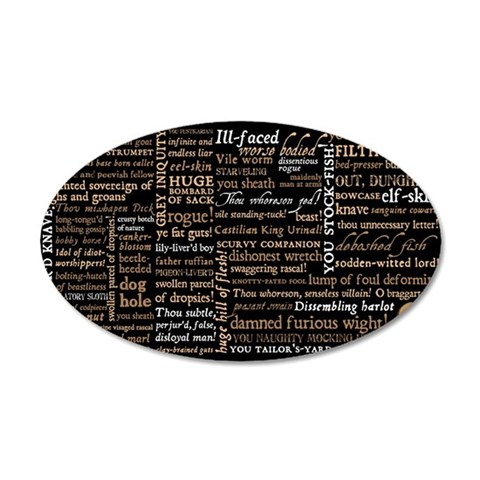 Shakespeare Insults 35x21 Oval Wall Decal