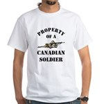 Property of Canadian Soldier White T-Shirt