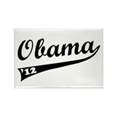 Obama 2012 Swish Rectangle Magnet