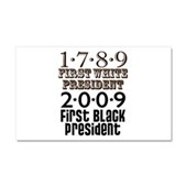 Presidential Firsts Car Magnet 20 x 12