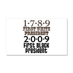 US Firsts: 1789-2009 Car Magnet 20 x 12