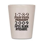 Presidential Firsts Shot Glass