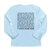 All Presidents up to Obama Long Sleeve Infant T-Sh
