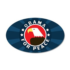 Obama For Peace 35x21 Oval Wall Decal