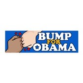 Fist Bump for Obama 21x7 Wall Peel