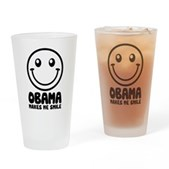 Obama Makes Me Smile Pint Glass