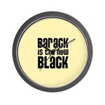 Barack is the New Black Wall Clock