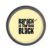 Barack the New Black Wall Clock
