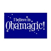 I Believe in Obamagic 38.5 x 24.5 Wall Peel