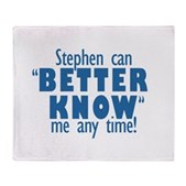 Stephen Can Better Know Me Stadium Blanket