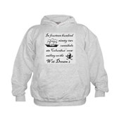 1492 on the Wet Dream 2 Kids Hoodie