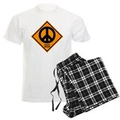 Peace Ahead Men's Light Pajamas