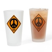 Peace Ahead Pint Glass