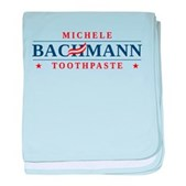 Funny Bachmann Toothpaste baby blanket