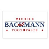 Funny Bachmann Toothpaste Sticker (Rectangle)
