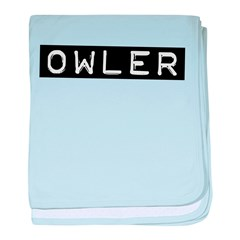 Owler Label baby blanket