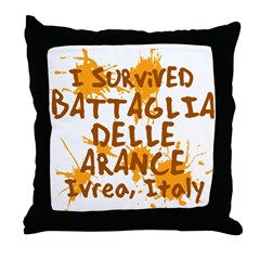 Ivrea Battle Of The Oranges Souvenirs Gifts Tees Throw Pillow