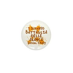 Ivrea Battle Of The Oranges Souvenirs Gifts Tees Mini Button