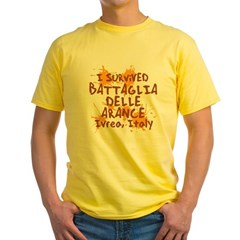 Ivrea Battle Of The Oranges Souvenirs Gifts Tees Yellow T-Shirt