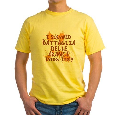 Battle of Oranges Yellow T-Shirt