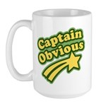 Captain Obvious Large Mug