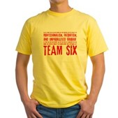 Team Six Quote Yellow T-Shirt