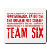 Team Six Quote Mousepad