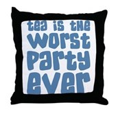 Worst Party Ever Throw Pillow