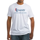 Anti-Romney Corporations Fitted T-Shirt