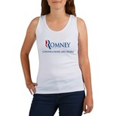 Anti-Romney Corporations Women's Tank Top