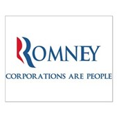 Anti-Romney Corporations Small Poster