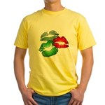 3 Big Lips Yellow T-Shirt