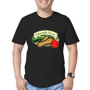 Salmonella Farms - Peanuts Men's Fitted T-Shirt (dark)