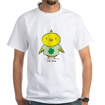 Irish Chick White T-Shirt