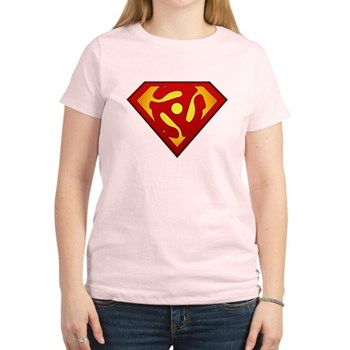 Super DJ 45 RPM Adapter Women's Light T-Shirt