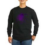 Purple Spider Long Sleeve Dark T-Shirt