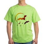 Flying Vampire Bats Green T-Shirt