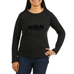 Generic witch Costume Women's Long Sleeve Dark T-Shirt