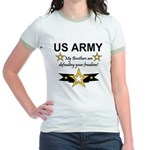 Army Brothers Defending Freed Jr. Ringer T-Shirt