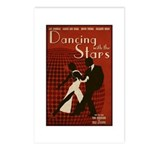 Distressed Retro DWTS Poster Postcards (Package of 8)