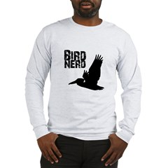 Bird Nerd (Pelican) Long Sleeve T-Shirt