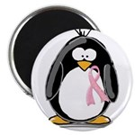 Breast Cancer penguin Magnet