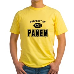 Property of Panem - Hunger Games Collegiate Fan Yellow T-Shirt