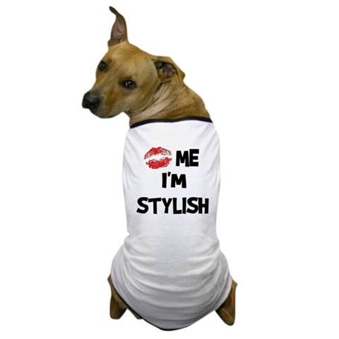 Kiss Me I'm Stylish Dog T-Shirt