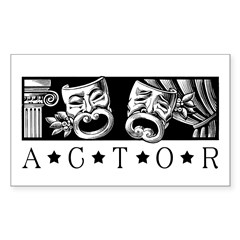 Classic Actor Sticker (Rectangle)