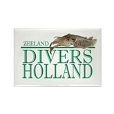 Zeeland Divers Holland Rectangle Magnet