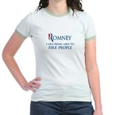 Anti-Romney: Fire People Jr. Ringer T-Shirt