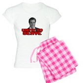 Anti-Romney: Unfit To Serve Women's Light Pajamas